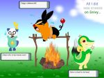 Tepig Sneezed on Snivy.. by Sarcastic-Deviantess