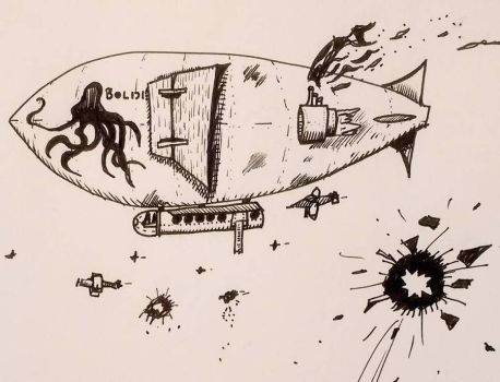 Airship Doodle by DParkerEdwards