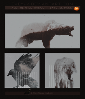 #42 Textures Pack - All The Wild Things by Evey-V