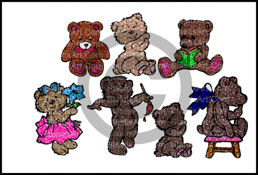 Glitter Bears by caryR