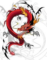 Dragon tattoo COMPLETE by Little-kaiyou-Kame