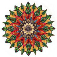 Flowers and Trees Mandala by Artwyrd