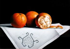 Oranges and Linen by VRobson-Breault