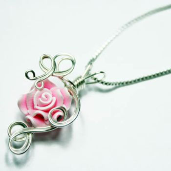 Pink Rose Perfume Pendant 2 by Create-A-Pendant
