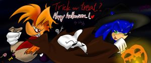 Rayman Sonic:Happy halloween by amberday