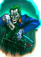 Joker Brings The Hell COLORED by xTERYLx
