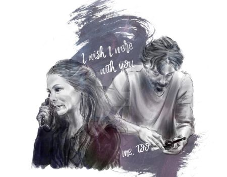 I wish I was there with you // kabby // the 100 by miss-ninja-cookie