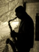 Saxophone player, Central Park by AutumnBreezeSymphony