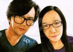 Hakim and Me in Color Pencil by Chenyi87