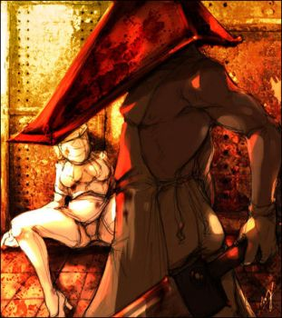 Pyramidhead and Nurse by LMJWorks