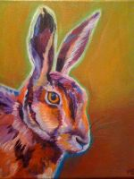 Hare acrylic by chibudgielvr