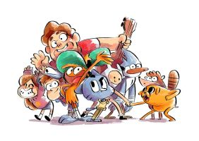 favorite cartoon characters ! by nounouille