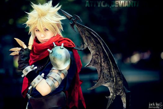 KINGDOM HEARTS CLOUD COSPLAY by Attyca