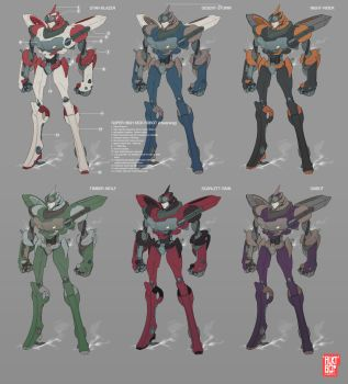 Mecha Designs by beatboxsamurai