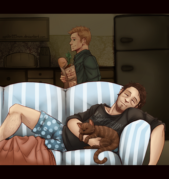 Napping - Destiel by spider999now