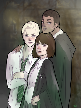 draco, pansy, blaise by promittens