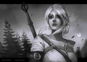 Ciri | Witcher 3 by asadfarook