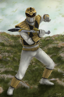 The White Ranger by thesadpencil