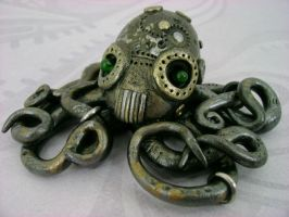 Mechanical Octopus by monsterkookies