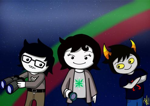 Jude, Joey and Xefros (From Hiveswap) by JJuanjo55