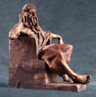 Zeus' iPhone 3 - bronze by AdamReederSculptor