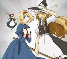 Alice and Marisa by chocoblanc