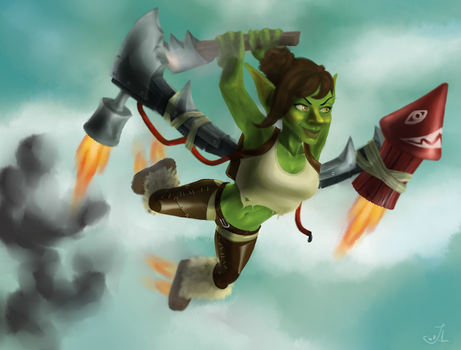 Goblins can fly! by miimystery