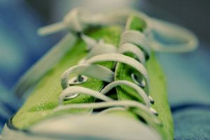 Lime Converse by littlemarkle