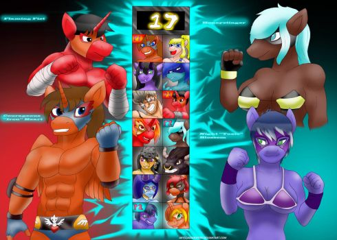 Equestria Rumble : Select Your Wrestler by Alexsupers