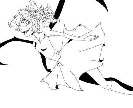 Flandre Scarlet Lineart by Mimi-Hates-Cheese