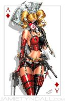 Harley Quinn + Deadpool Commission (colours) by jamietyndall
