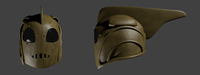 The Rocketeer Helmet - Front and Side by Neoiel