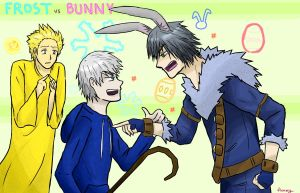 ROTG ~ Frost VS Bunny by Reikiwie