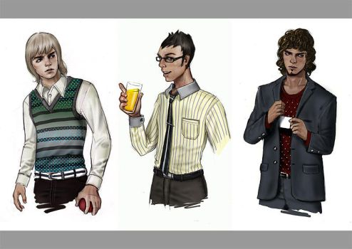 Tom, Dick, and Harry by albynism