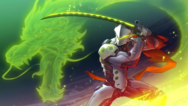 Genji from Overwatch by asuka111