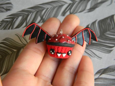 Dracula Cupcake-Polymer Clay by ThePetiteShop