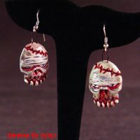 Rotten Ear undead oval earring by Undead-Art