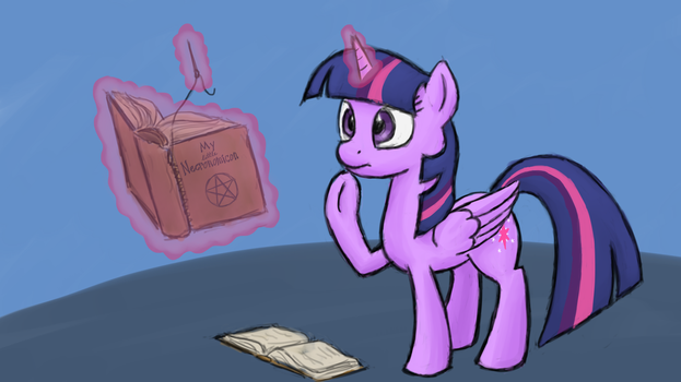 Twilight learns how to repair books by Bill-the-Pony