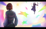 Frisk VS. Asriel: Hopes and Dreams by Kastraz
