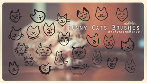 Funny Cats Brushes by RoaringWindd