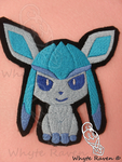 Glaceon Embroidery Patch by Whyte-Raven