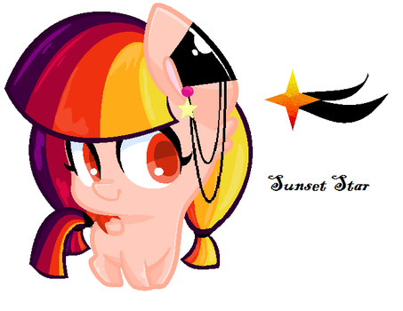 New adopted pony (Sunset Star) by MoonbeamSparkle