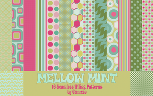 Mellow Mint Photoshop Patterns by Camxso