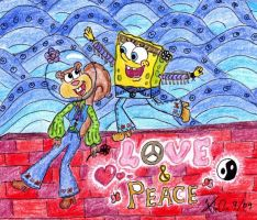Hippie Love by Spongefifi