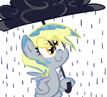 Derpy in the Rain by Tess-27