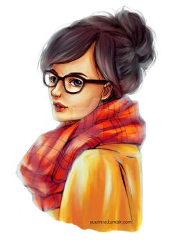 Girl with Glasses by Yuumira