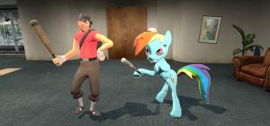 Rainbow Dash with Scout by sp19047