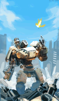 Overwatch: Bastion Animated by rou-tan