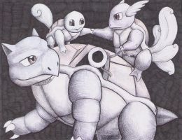 Squirtle Line by ST753M
