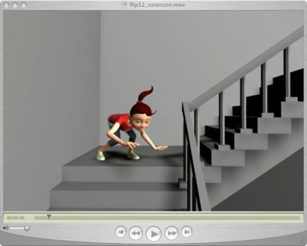 Flip on Stairs - ANIMATION by animatedpunk